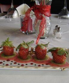 Stuffed strawberries at Studio Grille in Selden.