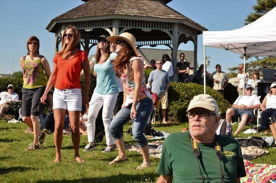 Melissa Spinerli, second from left, and Jenn Reid,