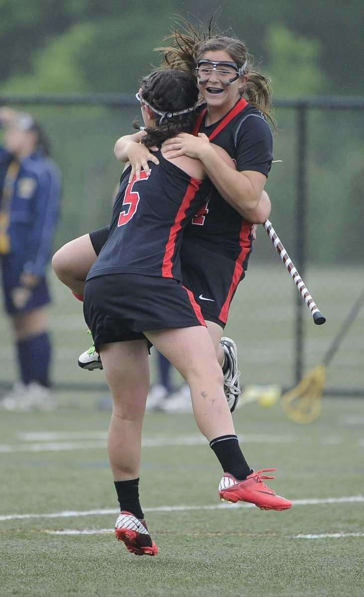 East Islip's Carlee Ancona, left, and Nicole Levy,