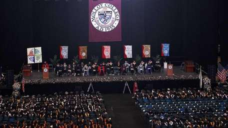 An overhead view of the 2012 Molloy College