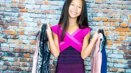 Ella Kane, 13, of Port Washington, models a