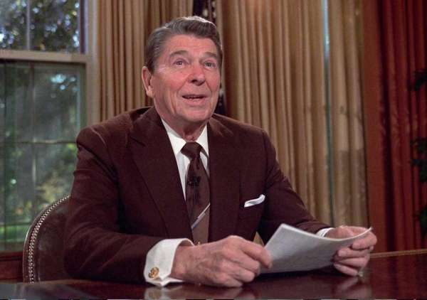 Ronald Reagan, the 40th president of the United
