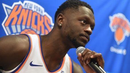 Julius Randle of the New York Knicks speaks