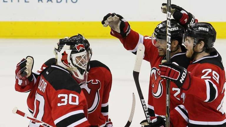 Martin Brodeur Shows He Can Still Play And Take A Punch Newsday