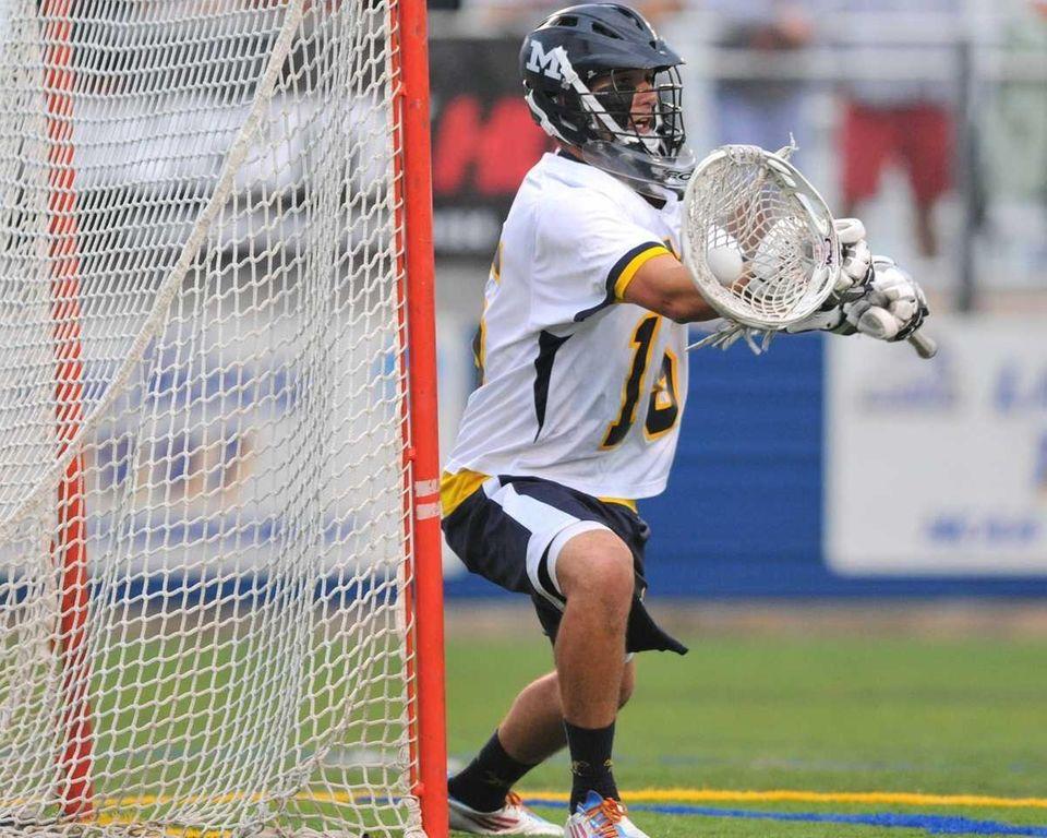 Massapequa High School goalie Joe Danaher makes a