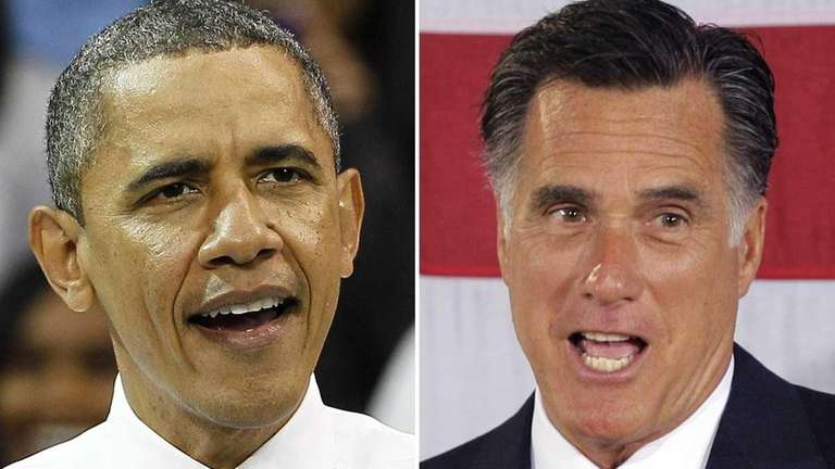President Barack Obama and Republican challenger Mitt Romney