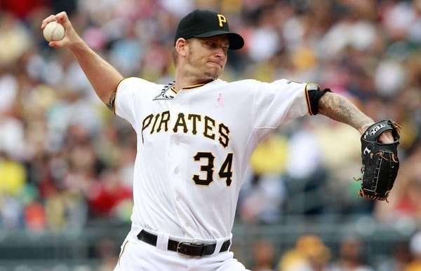 A.J. Burnett of the Pittsburgh Pirates pitches against