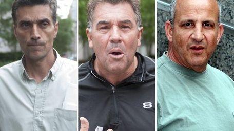 Michael Dasaro, Karl Brittel and Brian Delgiorno outside