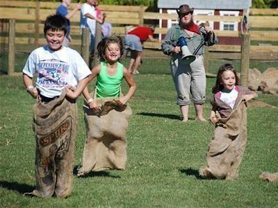 Enjoy potato sack races, hayrides, pony rides and