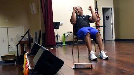 "Fitness guru Curtis Adams puts up his ""boxing"