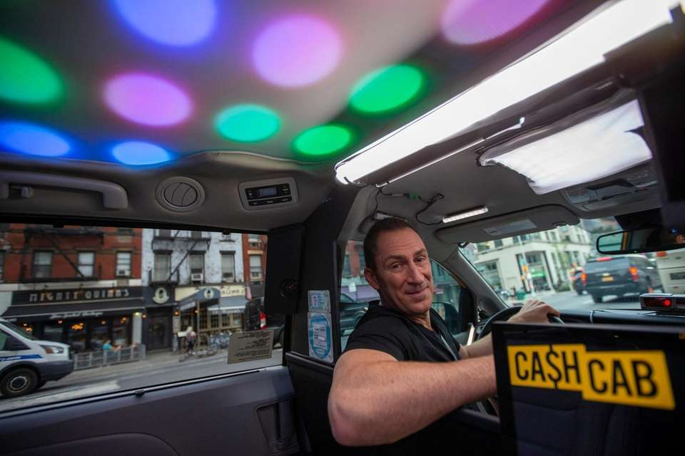 Cash Cab with host Ben Bailey in the
