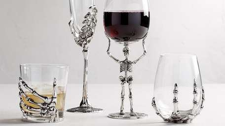 The Skeleton Drinkware Collection from Pottery Barn.