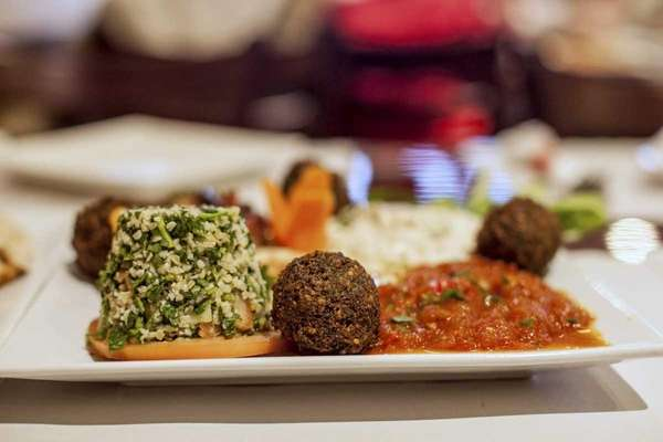 The appetizer platter at Ahuva's Grill features freshly