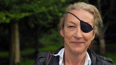 Marie Colvin, American-born, London-based British war correspondent, at