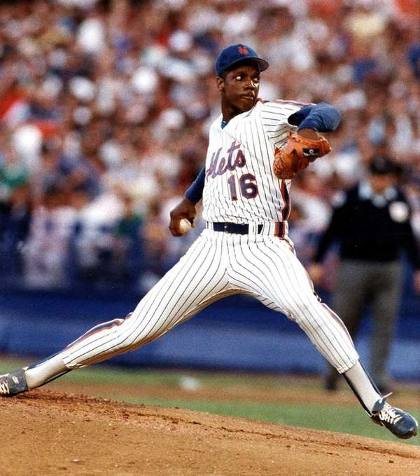 Dwight Gooden fires away in first inning of