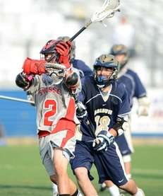 Syosset's Alex Concannon manages to get the shot