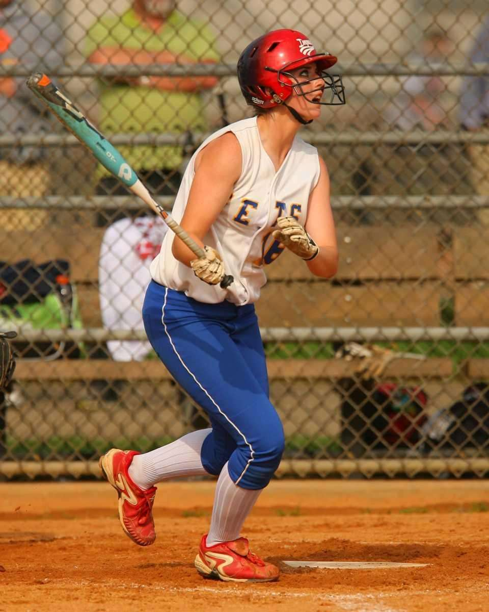 East Meadow's Kerri Shapiro drives a deep fly