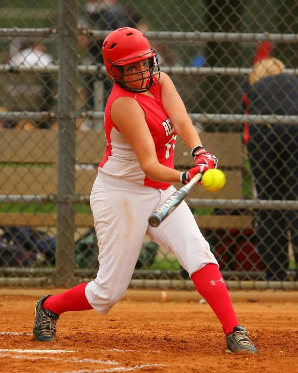Plainedge's Kim Nowak #18 connects for a single