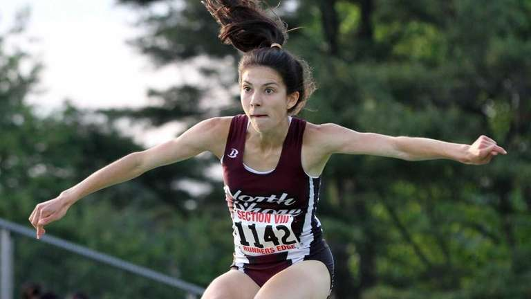 North Shore's Brianna Nerud competes at the Nassau