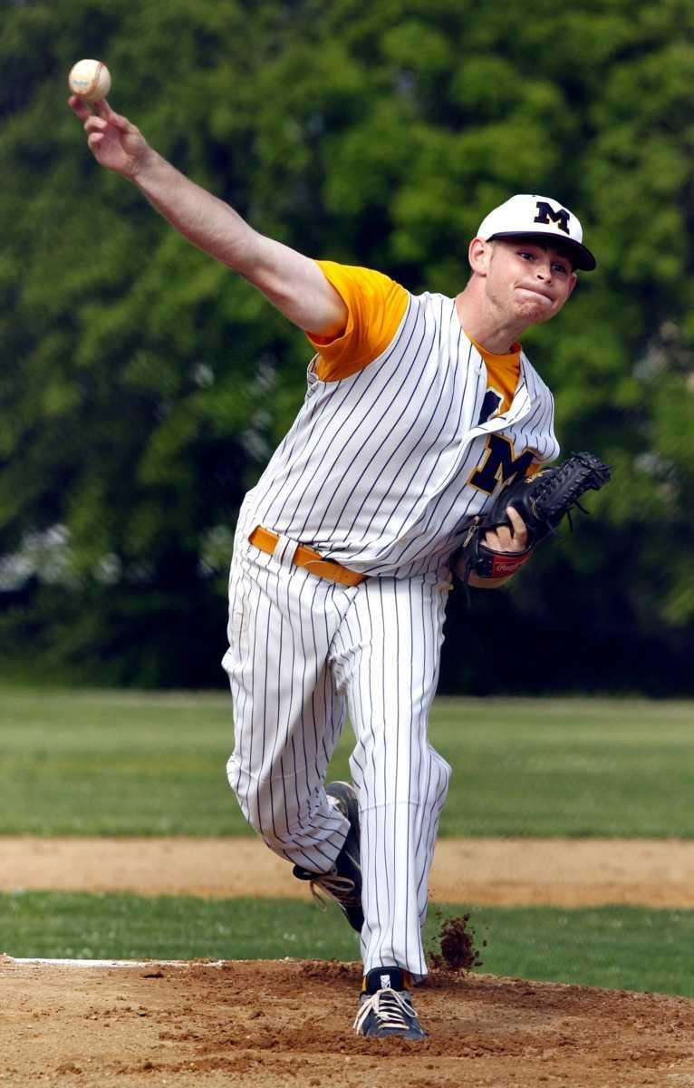 Massapequa starting pitcher Ryan McCormick delivers to the
