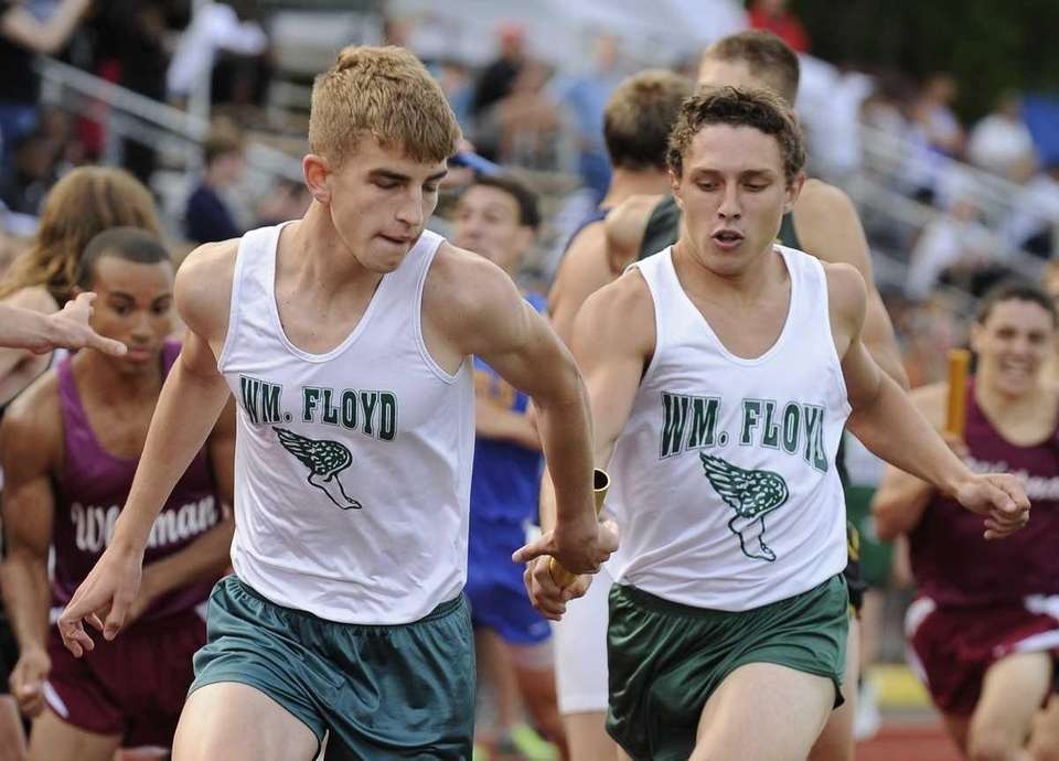 William Floyd runners pass the baton in the