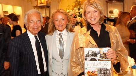 Martha Stewart, right, with Ralph and Ricky Lauren