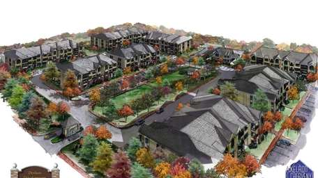 Deshon Drive aerial rendering of the Patterson Building--affordable