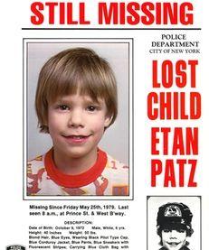 Etan Patz went missing in Manhattan in 1979.