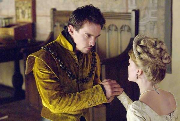 Jonathan Rhys Meyers as Henry VIII and Anita