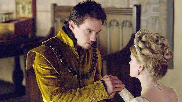 Jonathan Rhys Meyers as Henry VIII and Anita