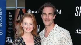 Kimberly Brook and James Van Der Beek attend