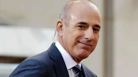 "Matt Lauer, then-co-host of the NBC ""Today"" television"