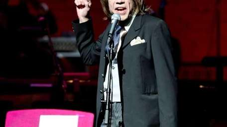 David Johansen performs at The Jazz Foundation of