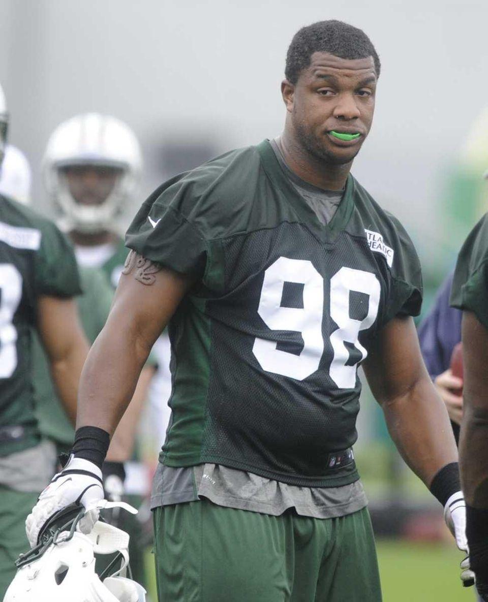 Jets rookie defensive lineman Quinton Coples takes a