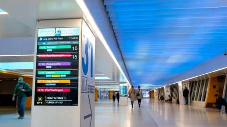 The West End Concourse at Penn Station, located