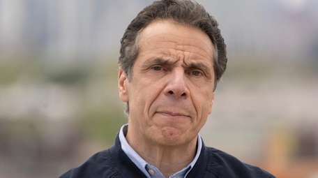 Gov. Andrew M. Cuomo takes questions in Queens