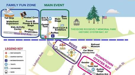 The map of the Oyster Festival 2019.