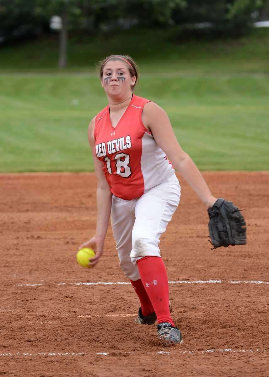 Plainedge's pitched Kim Nowak delivers a fastball against