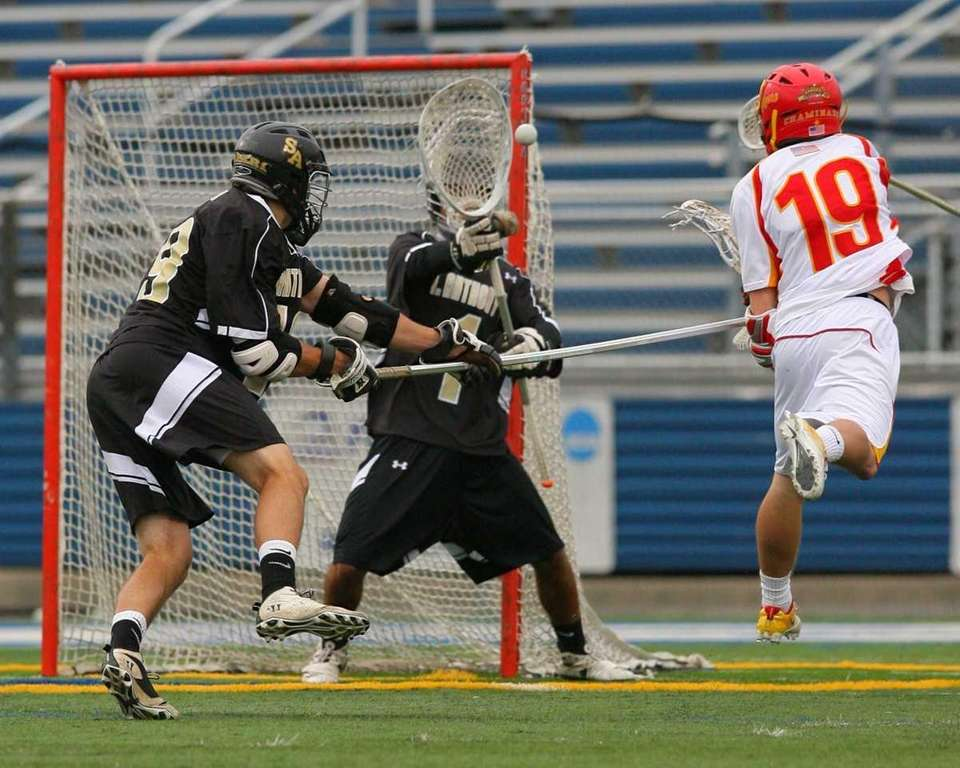 St. Anthony's Eric Caliendo makes a save against