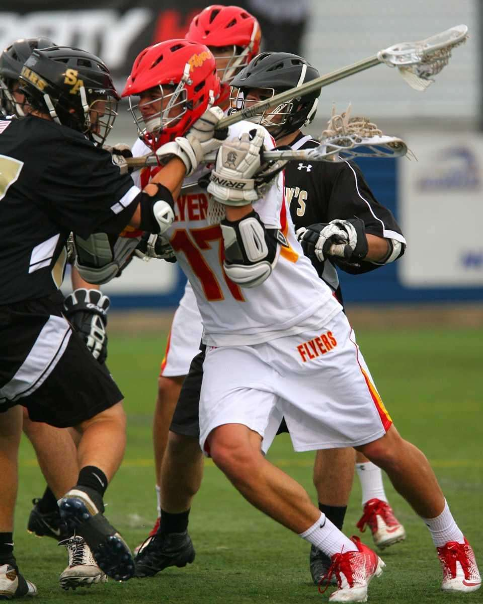 Chaminade's Thomas Zenker fights through a sea of