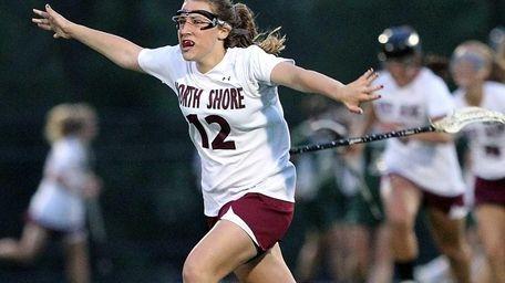 North Shore's Tara Kilderry celebrates a win over