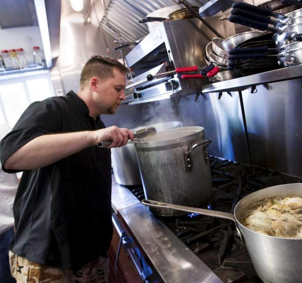 David Liszanckie, the chef at the newly opened