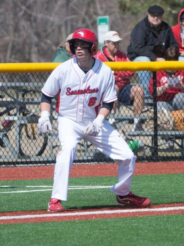 Stony Brook baseball player Travis Jankowski in 2012