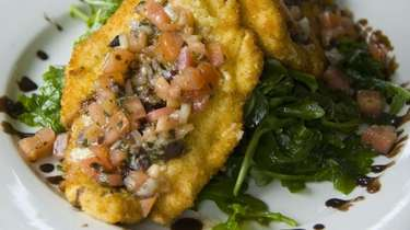 Chicken bruschetta is on the menu at The