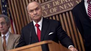 New York City Police Commissioner Ray Kelly announces