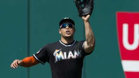 CLEVELAND, OH - MAY 20: Right fielder Giancarlo