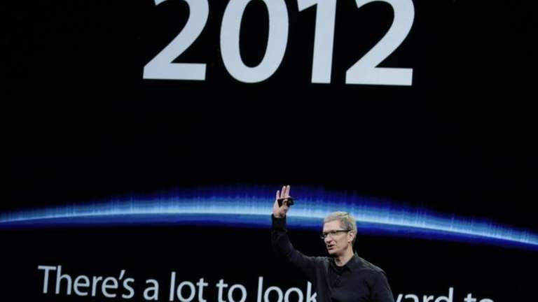 Apple chief executive Tim Cook talks about new