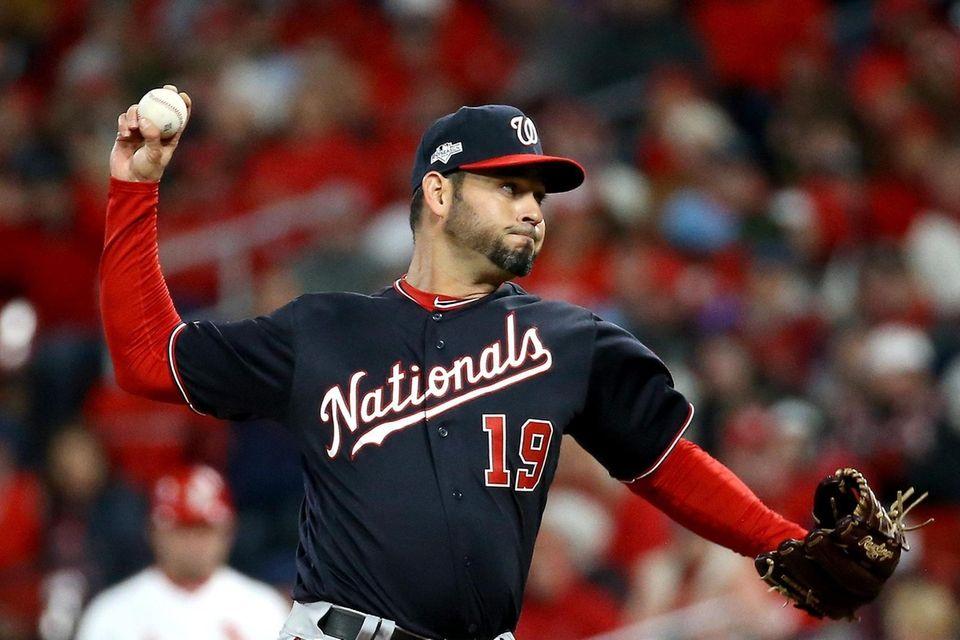 Anibal Sanchez of the Washington Nationals throws a