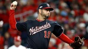 Anibal Sanchez of the Washington Nationals throws a