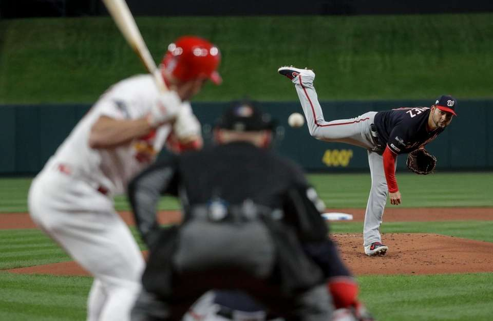 Washington Nationals starting pitcher Anibal Sanchez throws during